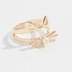 KATE SPADE GOLD OUT RING